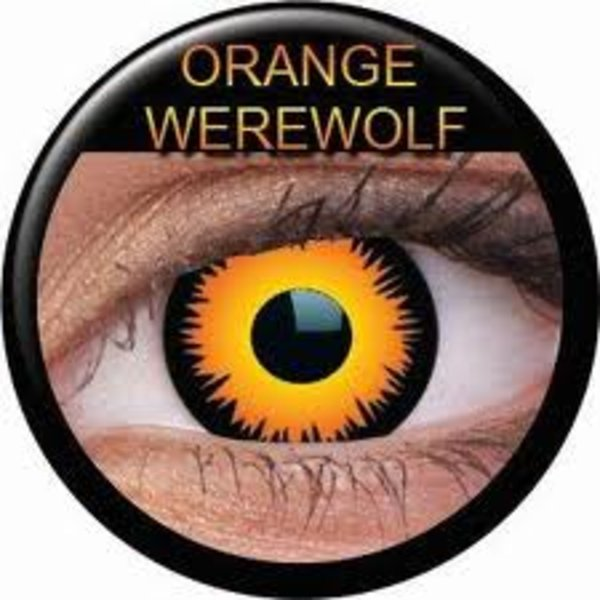 ColourVue Crazy čočky - Orange Werewolf (2 ks roční) - nedioptrické - výprodej 12/2017