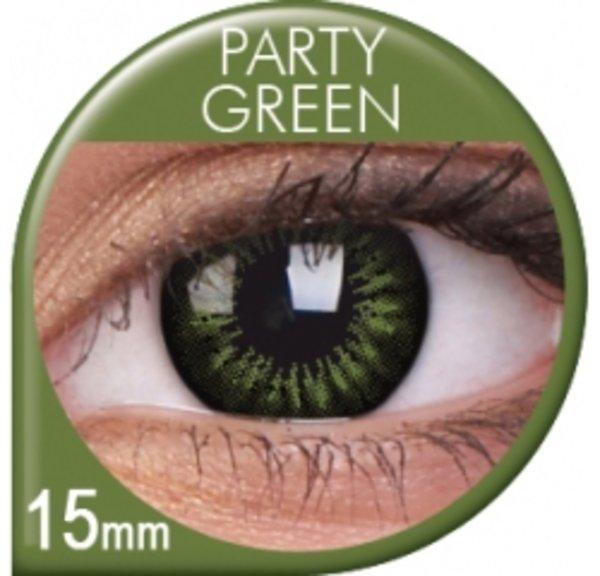 ColourVue Big Eyes - Party Green (2 čočky tříměsíční) - dioptrické -exp.08/2018