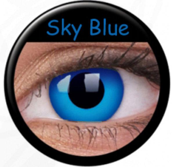 ColourVue Crazy čočky - Sky Blue - dark (2 ks roční) - NEPOUŽÍVAT