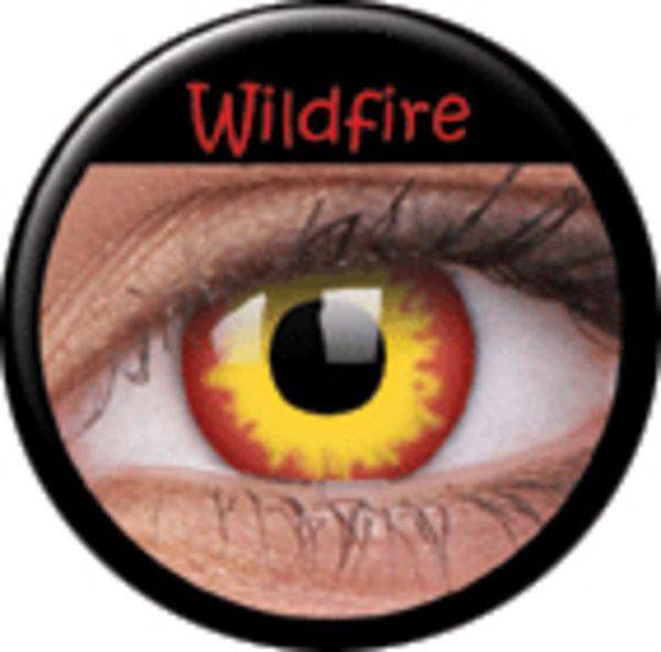 ColourVue Crazy čočky - Wildfire (2 ks roční) - nedioptrické - poškozený obal
