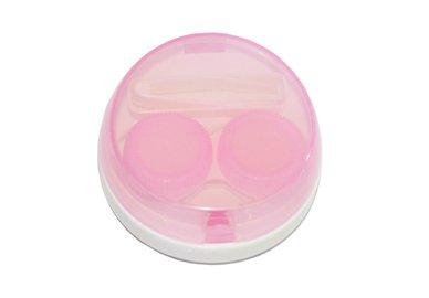 Vibrační pouzdro kulaté - Růžové průhledné