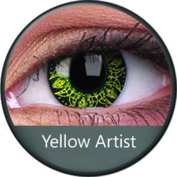Phantasee Crazy čočky - Yellow Artist (2 ks roční) - nedioptrické