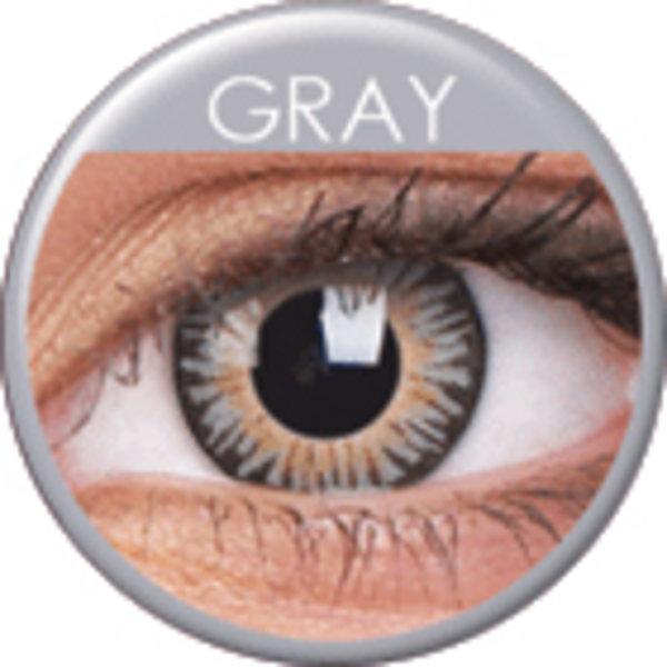 ColourVue 3 Tones - Grey (2 čočky tříměsíční) - nedioptrické - poškozený obal