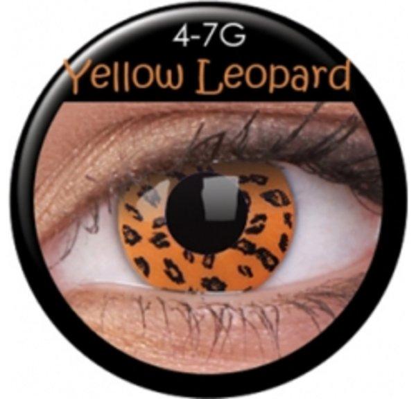 ColourVue CRAZY ČOČKY - Yellow Leopard (2 ks tříměsíční) - nedioptrické - exp.11/2019