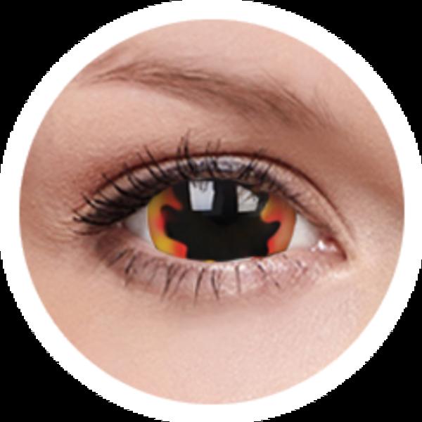 ColourVue Crazy čočky 17 mm - Blackhole Sun (2ks roční) - nedioptrické - poškozený obal