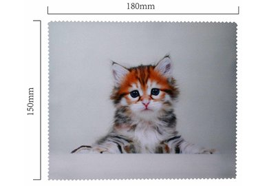 Hadřík na brýle z mikrovlákna- motiv kotě ležící