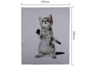 Hadřík na brýle z mikrovlákna- motiv kotě stojící