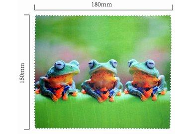Hadřík na brýle z mikrovlákna- motiv žáby