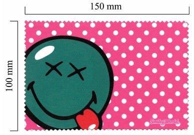 Hadřík na brýle z mikrovlákna Smiley - vypláznutý jazyk