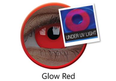 ColourVue Crazy čočky UV svítící - Glow Red (2 ks roční) - nedioptrické