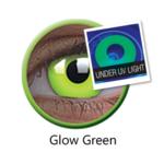 ColourVue Crazy čočky UV svítící - Glow Green (2 ks roční) - nedioptrické