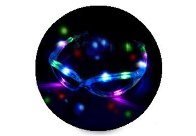 LED blikací brýle - Stříbrné(Bílé)
