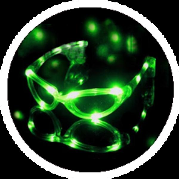 LED blikací brýle - Zelené