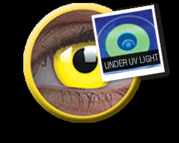 ColourVue Crazy čočky UV svítící - Glow Yellow (2 ks roční) - nedioptrické - exp.4/2020