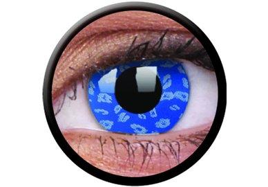 ColourVue Crazy čočky - Blue Leopard (2 ks roční) - nedioptrické