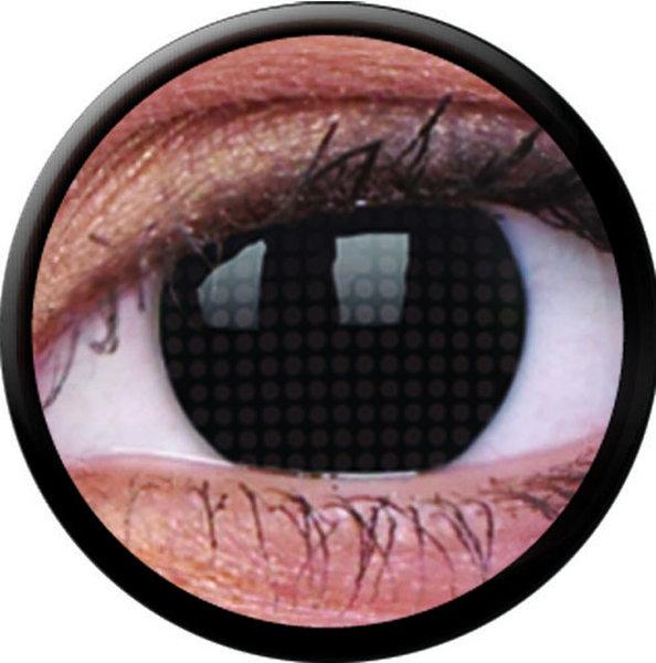 ColourVue Crazy čočky - Black Screen (2 ks roční) - nedioptrické