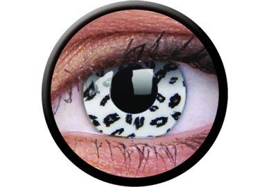 ColourVue Crazy čočky - White Leopard (2 ks roční) - nedioptrické