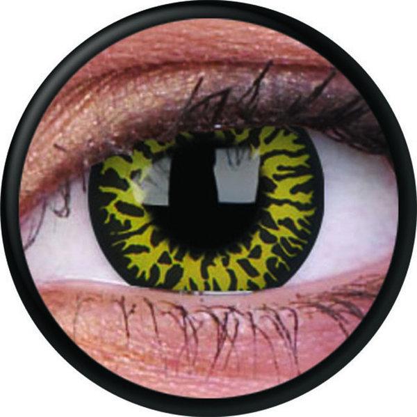 ColourVue Crazy čočky - Yellow Eclipse (2 ks roční) - nedioptrické