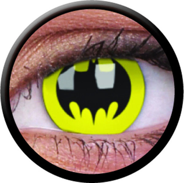 ColourVue CRAZY ČOČKY - Bat Crusader (Batman) (2 ks tříměsíční) - nedioptrické - výprodej