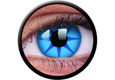 ColourVue Crazy čočky - Blue Star (2 ks tříměsíční) - nedioptrické