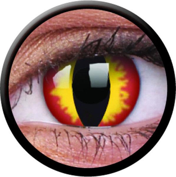 ColourVue CRAZY ČOČKY - Dragon Eyes (2 ks tříměsíční) - dioptrické - exp.04/2020