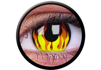 ColourVue CRAZY ČOČKY - Flame Hot (2 ks tříměsíční) - nedioptrické