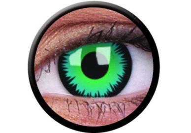ColourVue CRAZY ČOČKY - Green Werewolf (2 ks tříměsíční) - dioptrické -5,00 exp.08/2020