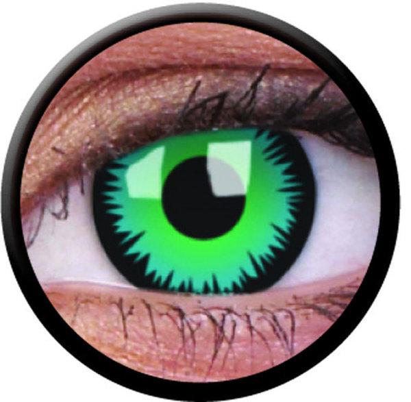 ColourVue CRAZY ČOČKY - Green Werewolf (2 ks tříměsíční) - dioptrické - exp.04/2020
