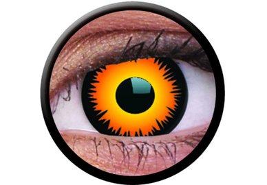 ColourVue CRAZY ČOČKY - Orange Werewolf (2 ks tříměsíční) - dioptrické - exp.02,04/2020