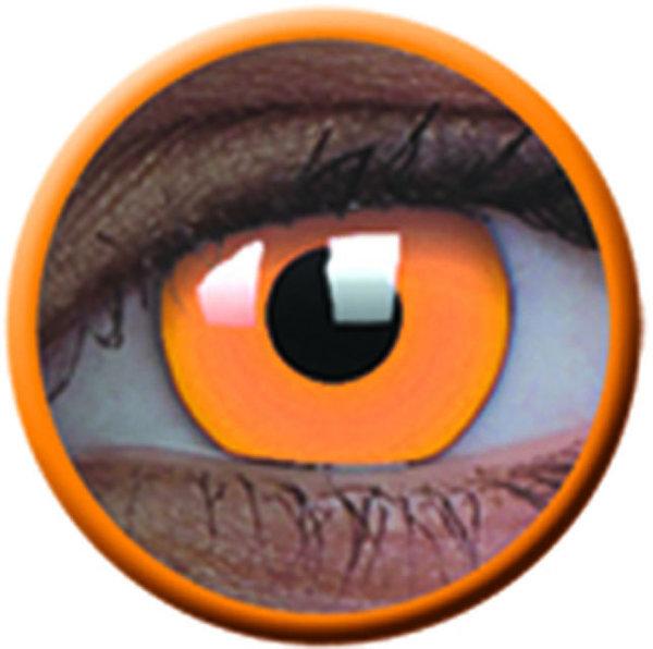 ColourVue Crazy čočky UV svítící - Glow Orange (2 ks roční) - nedioptrické-poškozený obal