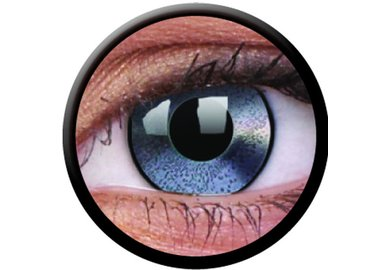 ColourVue Crazy čočky - Mirror Silver (2 ks roční) - nedioptrické