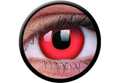 ColourVue Crazy čočky - Red Devil (2 ks roční) - nedioptrické - poškozený obal