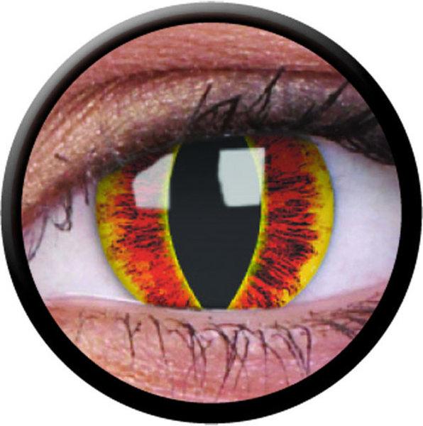 ColourVue Crazy čočky - Saurons Eye (2 ks roční) - nedioptrické - poškozený obal