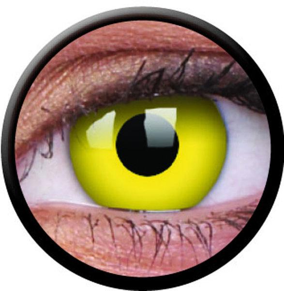 ColourVue Crazy čočky - Yellow (2 ks roční) - nedioptické