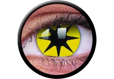 ColourVue Crazy čočky - Yellow Star (2 ks roční) - nedioptrické