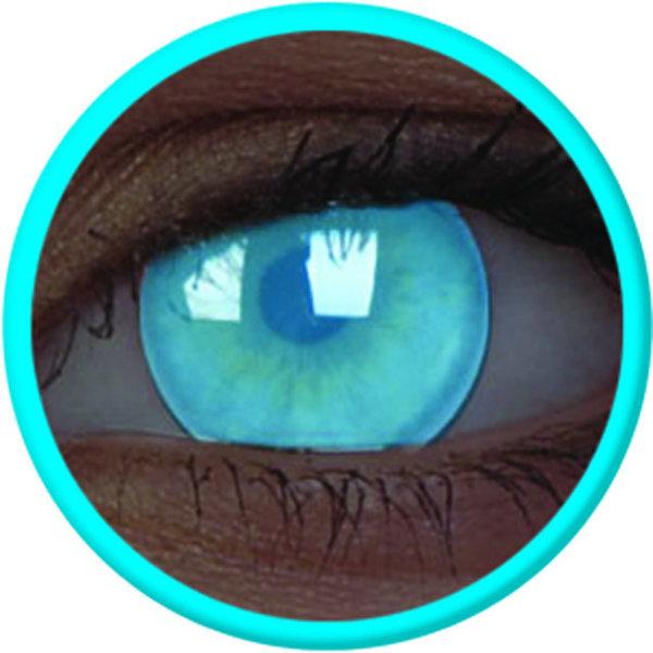ColourVue Crazy čočky UV svítící - Electric Blue (2 ks roční) - nedioptrické