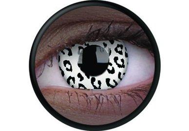 ColourVue Crazy čočky UV svítící - Glow White Leopard (2 ks roční) - nedioptrické