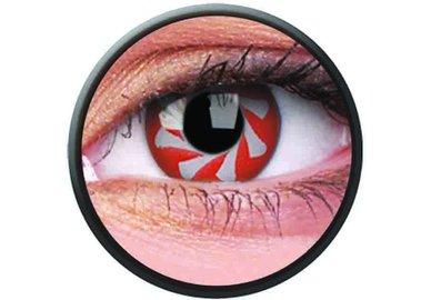 Phantasee Crazy čočky - Red Spin (2 ks roční) - nedioptrické - exp.02/2021