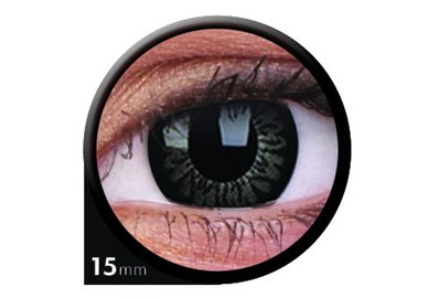 ColourVue Big Eyes - Awesome Black (2 čočky tříměsíční) - dioptrické - doprodej