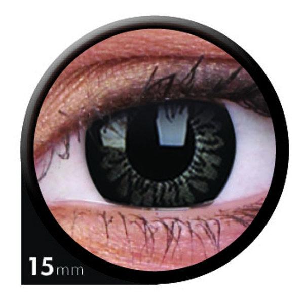 ColourVue Big Eyes - Awesome Black (2 čočky tříměsíční) - dioptrické - exp.08/2020