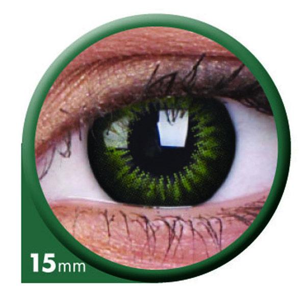 ColourVue Big Eyes - Party Green (2 čočky tříměsíční) - dioptrické