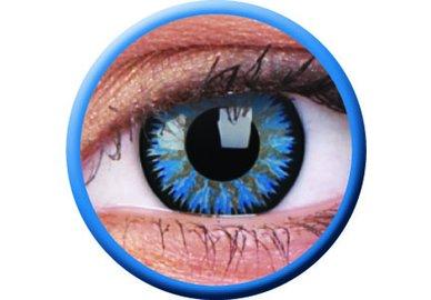 ColourVue Glamour - Aqua (2 čočky tříměsíční ) - dioptrické - poškozený obal