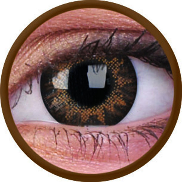 ColourVue Trublends One-Day - Hazel nedioptrické (10 čoček) - poškozený obal