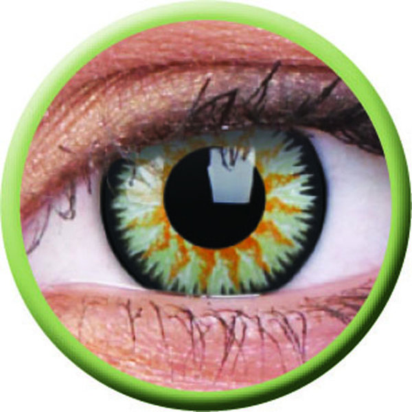ColourVue Glamour - Green (2 čočky tříměsíční) - dioptrické exp.02/21