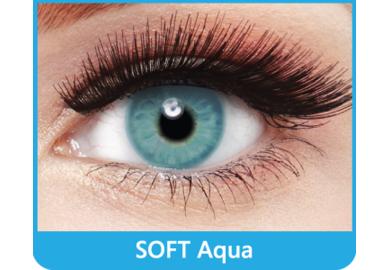 SoftColours - Aqua (2 měsíční čočky) - nedioptrické - poškozený obal