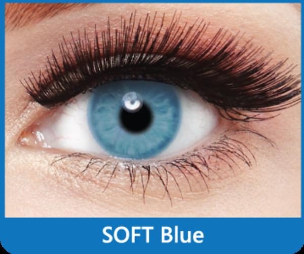 SoftColours - Blue (2 měsíční čočky) - nedioptrické - poškozený obal