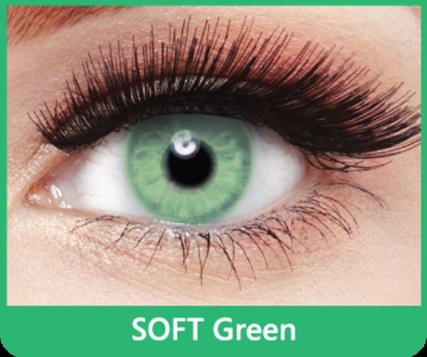 SoftColours - Green (2 měsíční čočky) - nedioptrické - poškozený obal