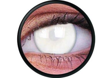 ColourVue Crazy čočky - Blind White (2 ks roční) - nedioptrické - není přes ně vidět