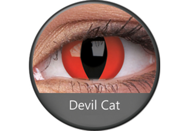 ColourVue Crazy čočky - Devil Cat (2 ks roční) - nedioptrické