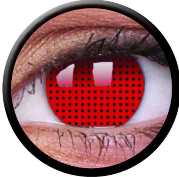 ColourVue Crazy čočky - Red Screen (2 ks roční) - nedioptrické - exp.02/22